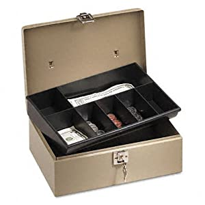 PMC04963 - Lockn Latch Steel Cash Box w/7 Compartments