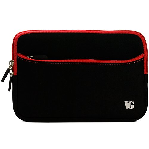 Red Trim Durable Neoprene Laptop Sleeve Carrying Case for Apple MacBook Pro 15.4-Inch Laptop Model MC721LL/A, MC723LL/A, MC371LL/A, MC373LL/A, MC372LL/A