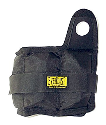 Everlast Mens Pair Ankle Weights - Black, 5 Lb