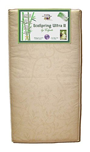 Colgate EcoSpring Ultra II - Organic Cotton Innerspring Crib Mattress with Waterproof Cover,Ecru