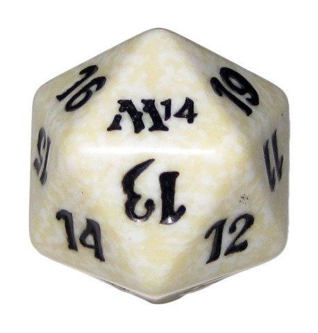 MTG Spindown D20 Life Counter - M14 Magic 2014 White