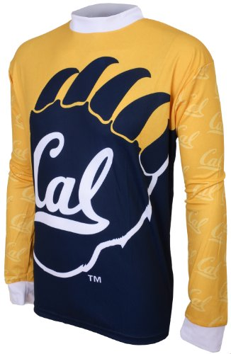 NCAA Boys' California Golden Bears Long Sleeve Performance BMX Jersey (Yellow/Navy, X-Large (12-14))