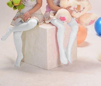 Kinder Strumpfhose weiße glatte
