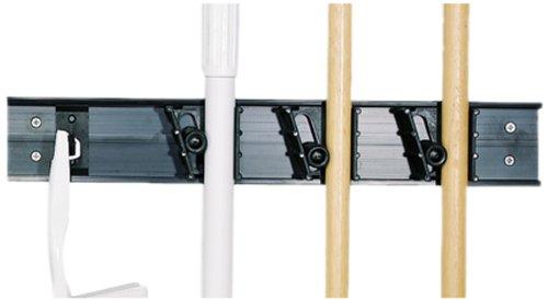 "Carlisle 4073100 Roll 'N Grip Abs Plastic Broom Holder System, 18"" Length front-194446"