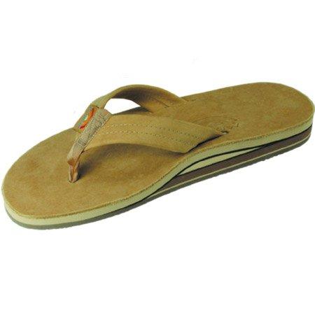 Rainbow Sandals Womens Premier Leather Double Layer Arch Wide Strap - Sierra Brown Medium