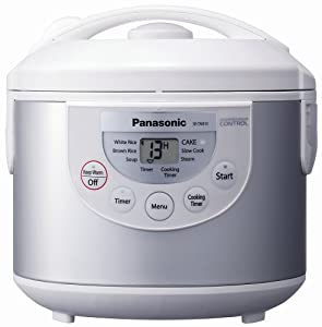 Panasonic SR-TMB10 5-1/2-Cup Rice Cooker/Warmer, Silver