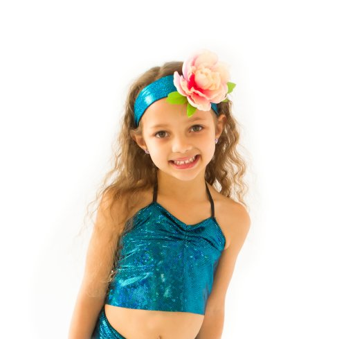 Simple Mermaid Top By Applejack Apparel (Med 5-7, Blue)