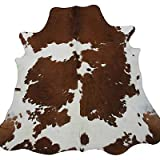Real South American Cowhide Rug Brown & White