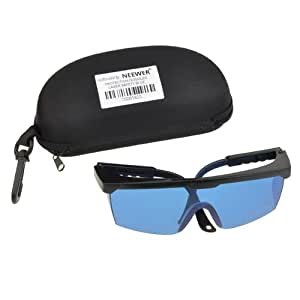 NEEWER® Laser Eye Protection Safety Goggle Glasses (Blue) for Green/Blue Lasers from 190nm to 532nm