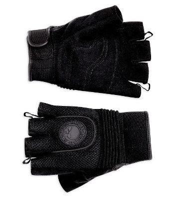 Harley-Davidson? Men's Skull Fingerless Mesh Gloves. Reflective piping. 98209-10VM Medium