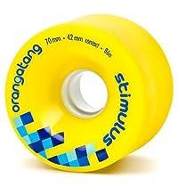 Orangatang Stimulus 70mm Longboard Skate Wheels *Set Of 4* (Yellow: Durometer 86a)
