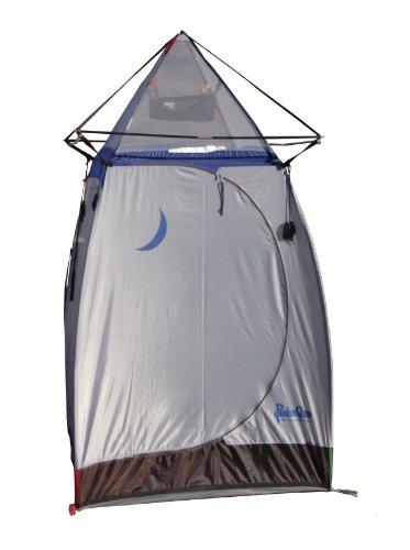 PahaQue Wilderness Tepee Shower/Outhouse Tent with fiberglass poles (Silver/Blue, 4.5 x 4.5 x 7.5-Feet), Outdoor Stuffs