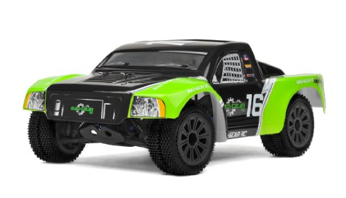 Mad Gear 1/16 Mini Electric Short Course RC Truck 2.4ghz Ready to Run (Green)
