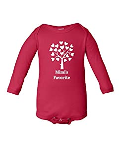 Fat Doxie - Mimi's Favorite - Baby/Toddler Long Sleeve Bodysuit 24 Months Red