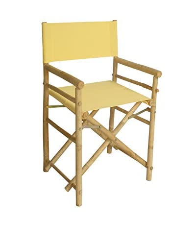 ZEW, Inc. Set of 2 Bamboo Director Chairs, Nude