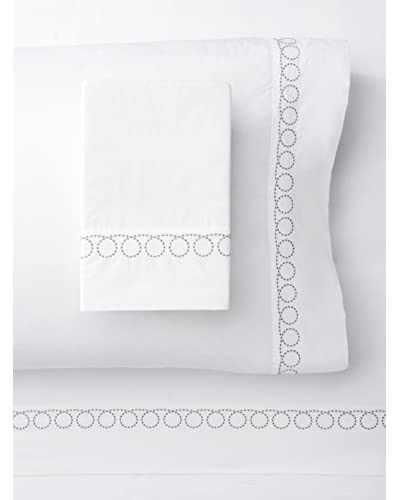 Melange Home Egyptian Cotton Loops Embroidery Sheet Set