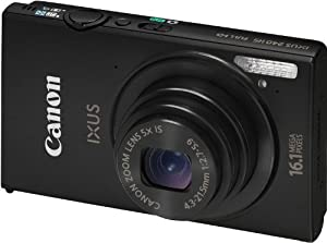 Canon IXUS 240 HS Digitalkamera (16,1 Megapixel, 5-fach opt. Zoom, 8,1 cm (3,2 Zoll) Touch-Display, WiFi, Full-HD) schwarz