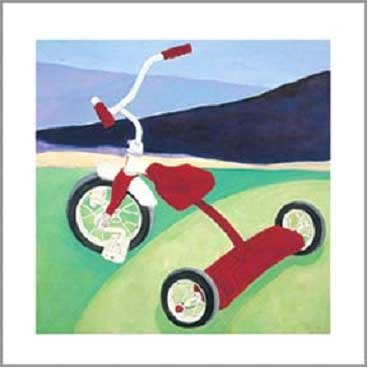 Art4Kids 21668 Red Tricycle - Contemporary Mount