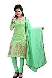Krishna ECommerce Women's Salwar Suit Dress Material. (MORNIGREEN)