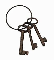 Iwgac Home Indoor Decorative Cast Iron Key On Ring by IWGAC