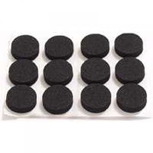 """Mintcraft Fe-50720 Black Rubber Foam Pad, 3/4"""", Pack-12"""