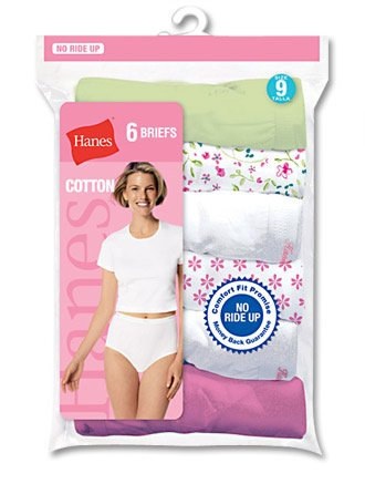 Womens Lingerie  Slip on Hanes Women   S Cotton Briefs Pastel Assorted 6 Pack Asst Solid   Your