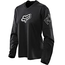 Fox Blackout Girls' black Size M Downhill Jersey