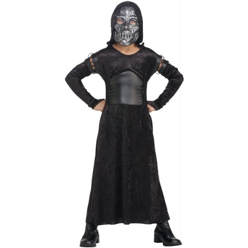 Harry Potter And The Deathly Hallows, Child's Death Eater Bellatrix Costume And Mask, Large
