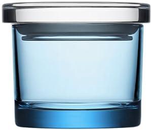 Iittala Small Wide Glass Jar, Light Blue