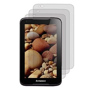 3x kwmobile® Displayschutzfolie MATT und ENTSPIEGELND mit Anti-Fingerabdruckeffekt für Lenovo IdeaTab A3000 - PREMIUMQUALITÄT