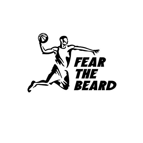 ShirtMania FEAR THE BEARD Basketball Sport Car Laptop Wall Sticker (Longest Beard)