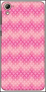 Snoogg Star Pink Circular Pattern Designer Protective Back Case Cover For HTC Desire 826