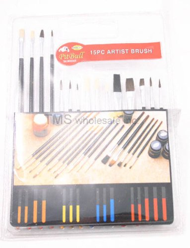 Qty 2: New 15 pc Professional Artist Paint Brushes