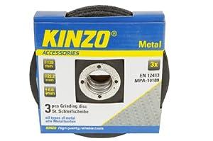 Kinzo 71774 3 Disques pour meuleuse tout métal 125 mm
