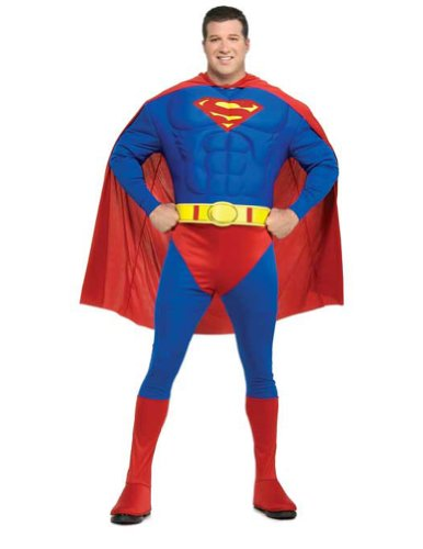 Superman Muscle Chest Plus Adult Mens Costume