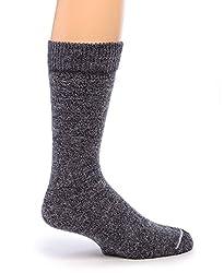 Warrior Alpaca Socks - Women's Outdoor Terry Lined Alpaca Socks (S, Denim)