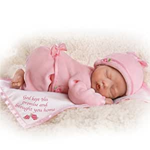 "God Kept His Promise And Brought You Home Lifelike Newborn Baby Doll: So Truly Real - 10"" by Ashton Drake"