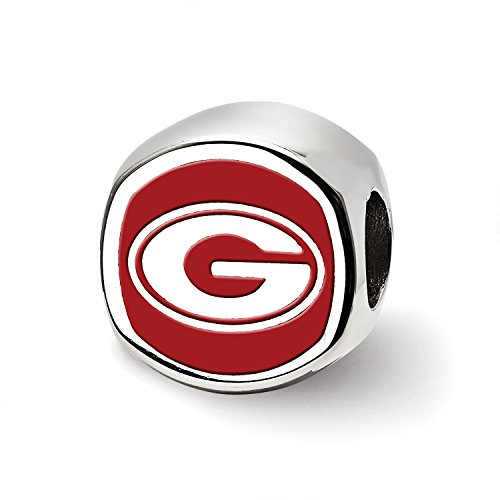 University of Georgia Cushion Shaped Double Logo Bead