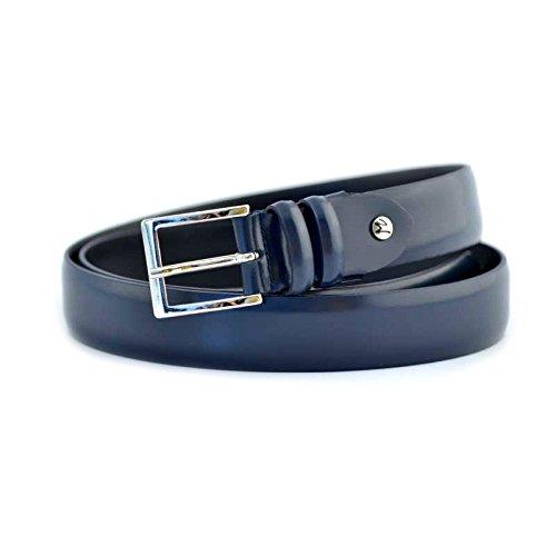 Cintura uomo Fabrizio Mancini tg 110 XXL 0001BLU in pelle blu