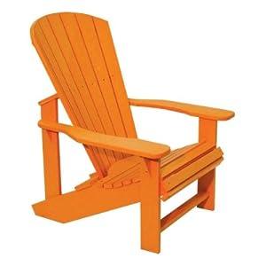 orange polywood adirondack chair patio