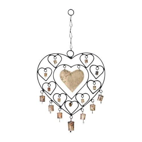 ORE International 26661 Metal Heart Wind Chime