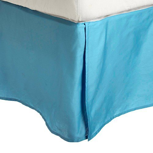 luxor-treasures-100-brushed-microfiber-bed-skirt-twin-xl-aqua-wrinkle-resistant-pleated-corners-by-l
