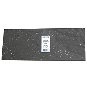 Black Glitter Color Tissue Paper - 10 sheets per pack