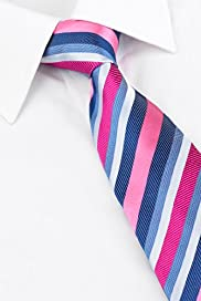 Ultimate Pure Silk Textured Multi-Striped Woven Tie