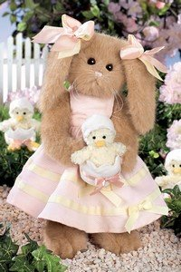 Buy Heidi and Hatch Bearington 14″ Dressed Brown Bunny Rabbit Holding Baby Chick Easter Basket Gift Dressed Stuffed Animal Collectible By Bearington Collection