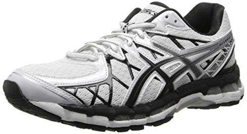 ASICS Men's Gel-Kayano 20 Running Shoe,White/Black/Lightning,12