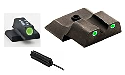 AmeriGlo SW-141 i-Dot M&P Shield 2 Dot Night Sight Set Green, Green + Ultimate Arms Gear 3/32 Disassembly Pin Punch Armorers Gunsmith Tool