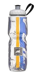 Polar Bottle Insulated Water Bottle, Gold/Blue, 24-Ounce