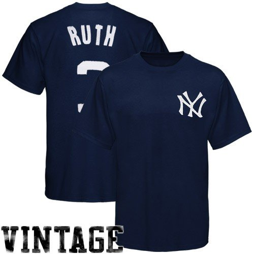 MLB New York Yankees Babe Ruth 1927 Cooperstown Vintage Pro Applique Name & Number Tee, XX-Large at Amazon.com