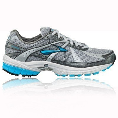 BROOKS Defyance 4 Ladies Running Shoes, White/Silver/Blue, UK7.5 - Width B